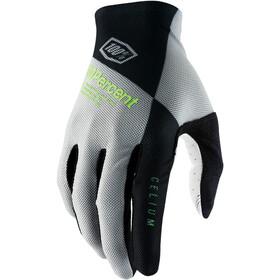 100% Celium Handschuhe grau/grün